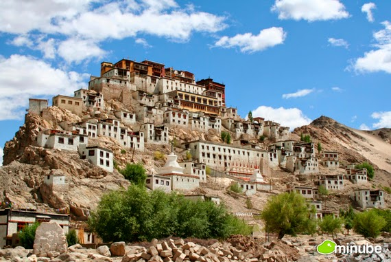15.) Thikse Monastery, India - The 19 Most Stunning Sacred Places Around the World