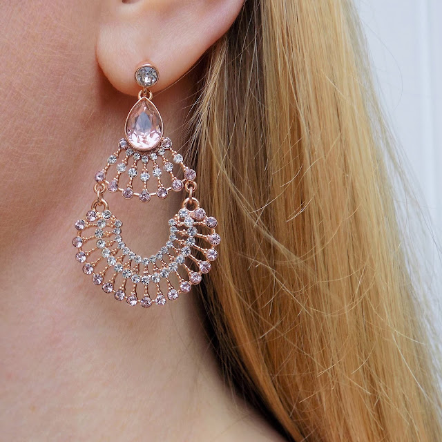Lily and Rose vintage style rose gold earrings