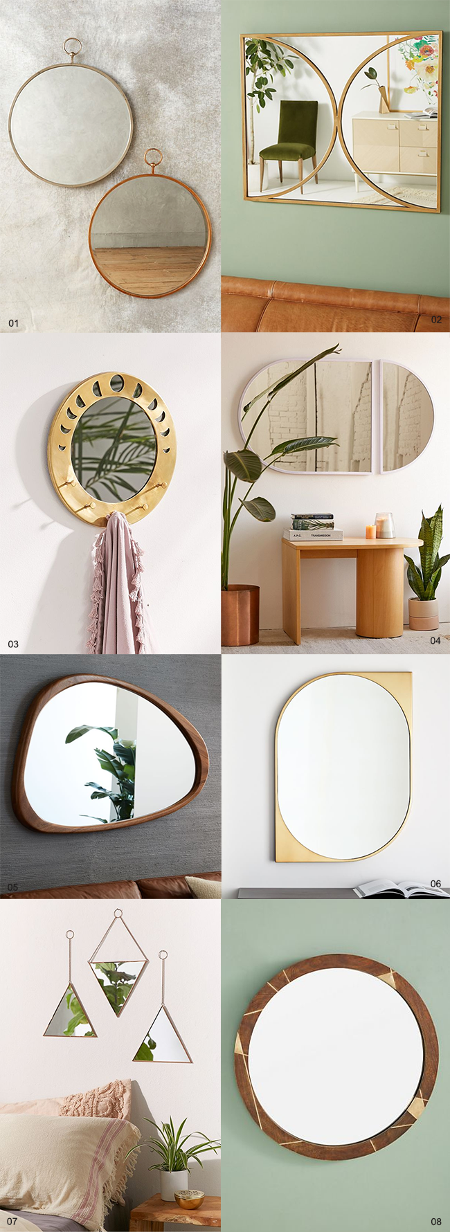 8 Gorgeous Boho Wall Mirrors