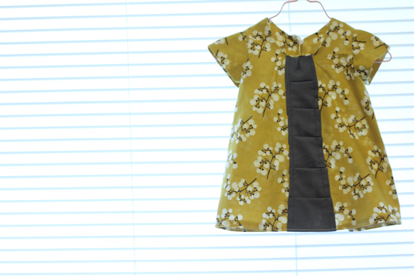 Pattern Hack Pleated Front Baby Dress See Kate Sew
