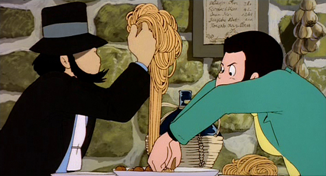 Jigen and Lupin give as much a fuck about carbs as they do about the law.