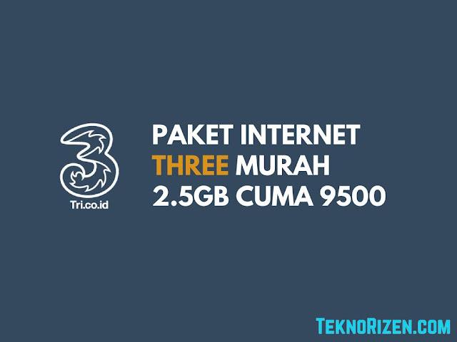 Cara Beli Paket 3 Tri Murah 2.5GB Cuma 9500 Terbaru
