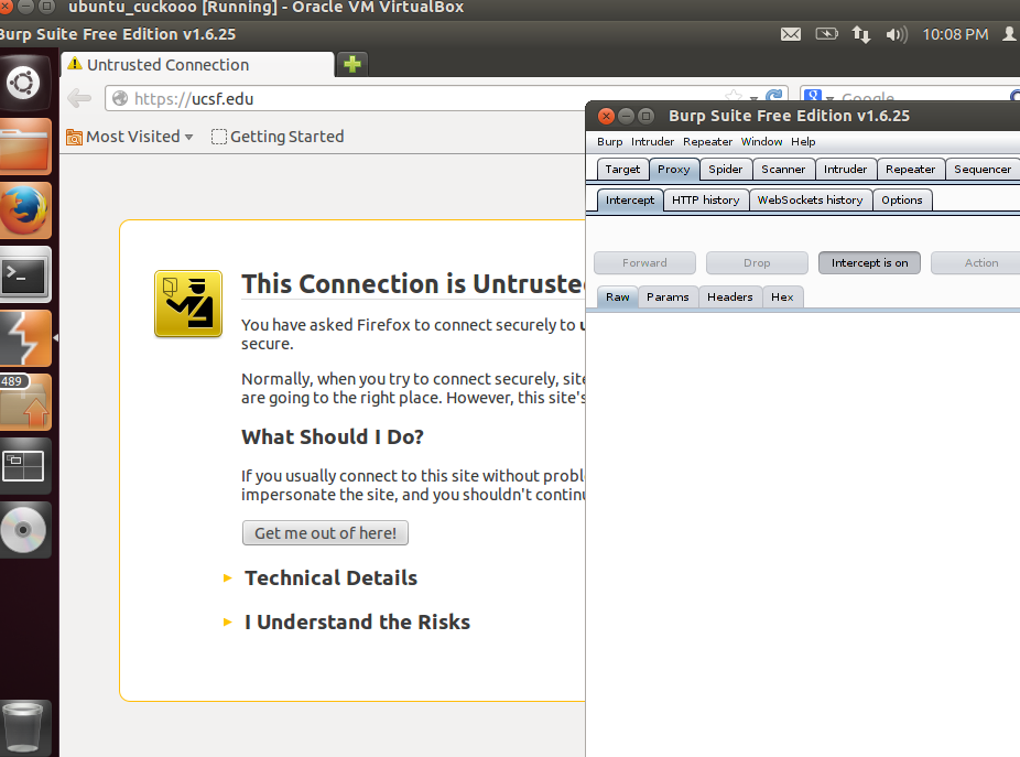 MELIORATE: Burp Suite : Configuring the browser and redirecting traffic