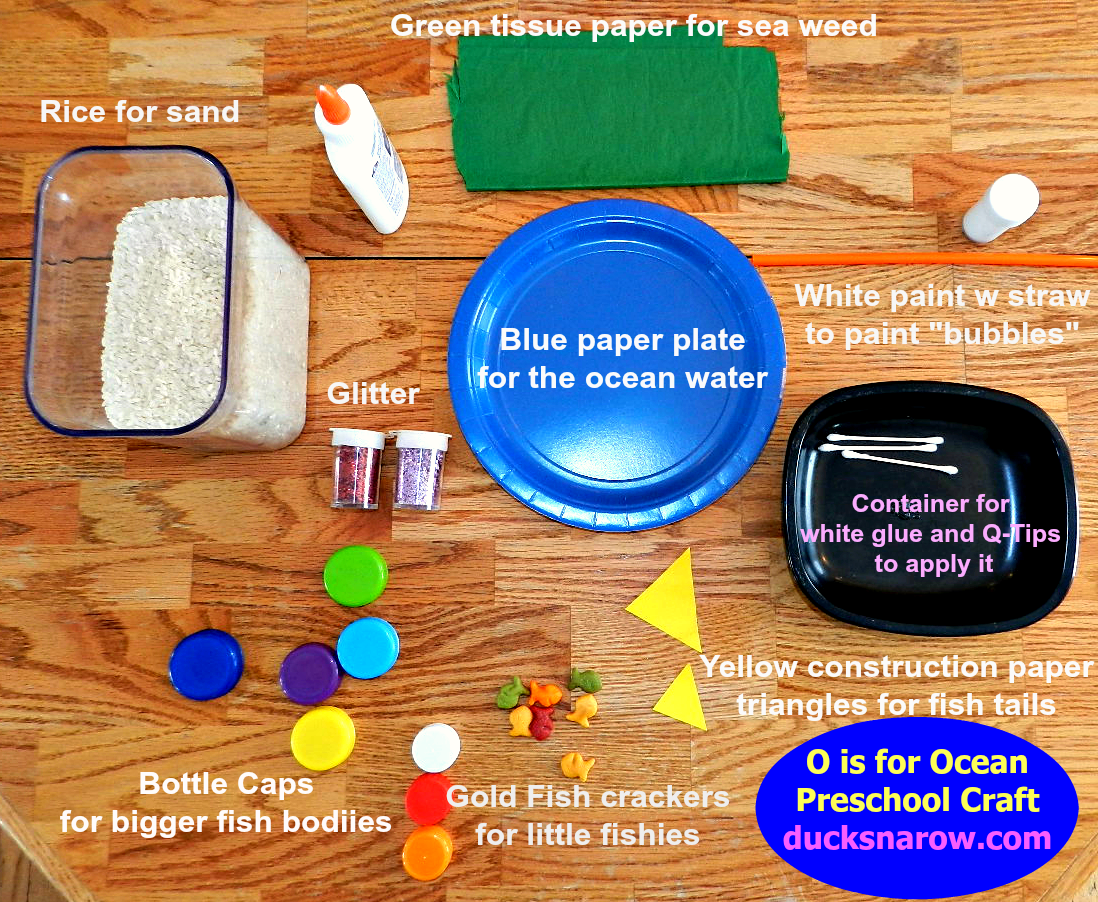 O Is For Ocean Paper Plate Preschool Craft