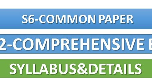 Comprehensive Exam 352 Details S6 Common Paper Ktu