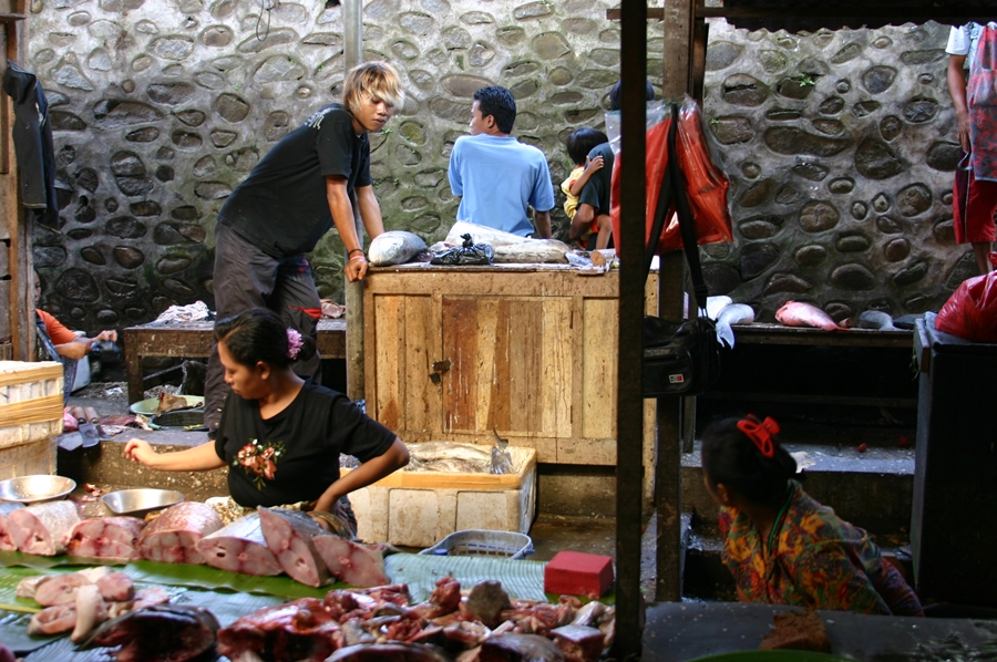 시장 생선
