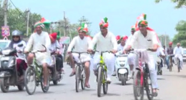 Police personnel reaching from cycling get their son's procession, discussions happening across the country