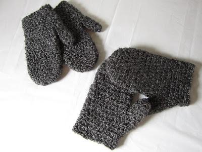 mittens, free crochet pattern, Lion Brand, Homespun, tutorial
