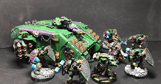 CVinton's Sculpted Salamander's Land Raider is Back and Painted! A DFG Legend!