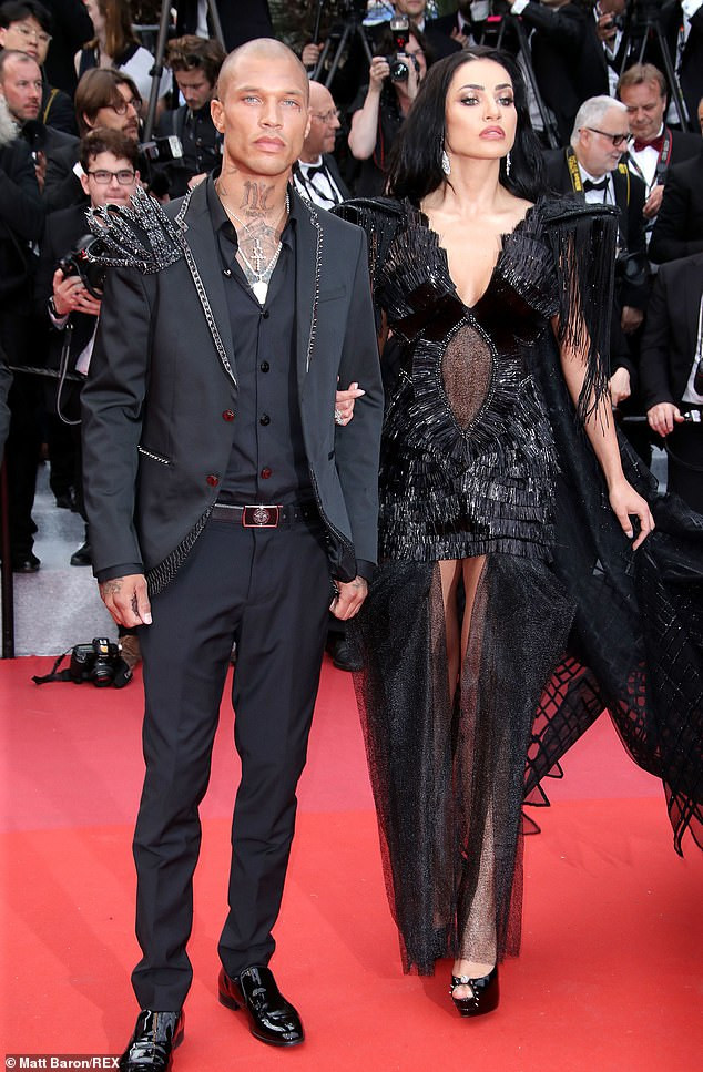 Hot Felon, Jeremy Meeks cosies up to model Andreea Sasu at Cannes Film Festival amid rumours he's no longer with Chloe Green (Photos)