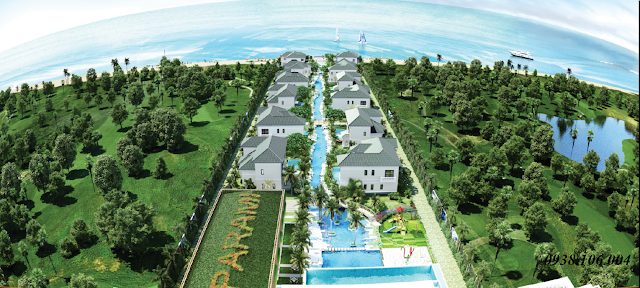 Bảng giá condotel Parami Hồ Tràm Vũng Tàu - phối cảnh villa