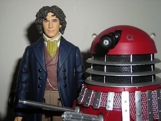 The eighth Doctor (Paul McGann) and Dalek Alpha