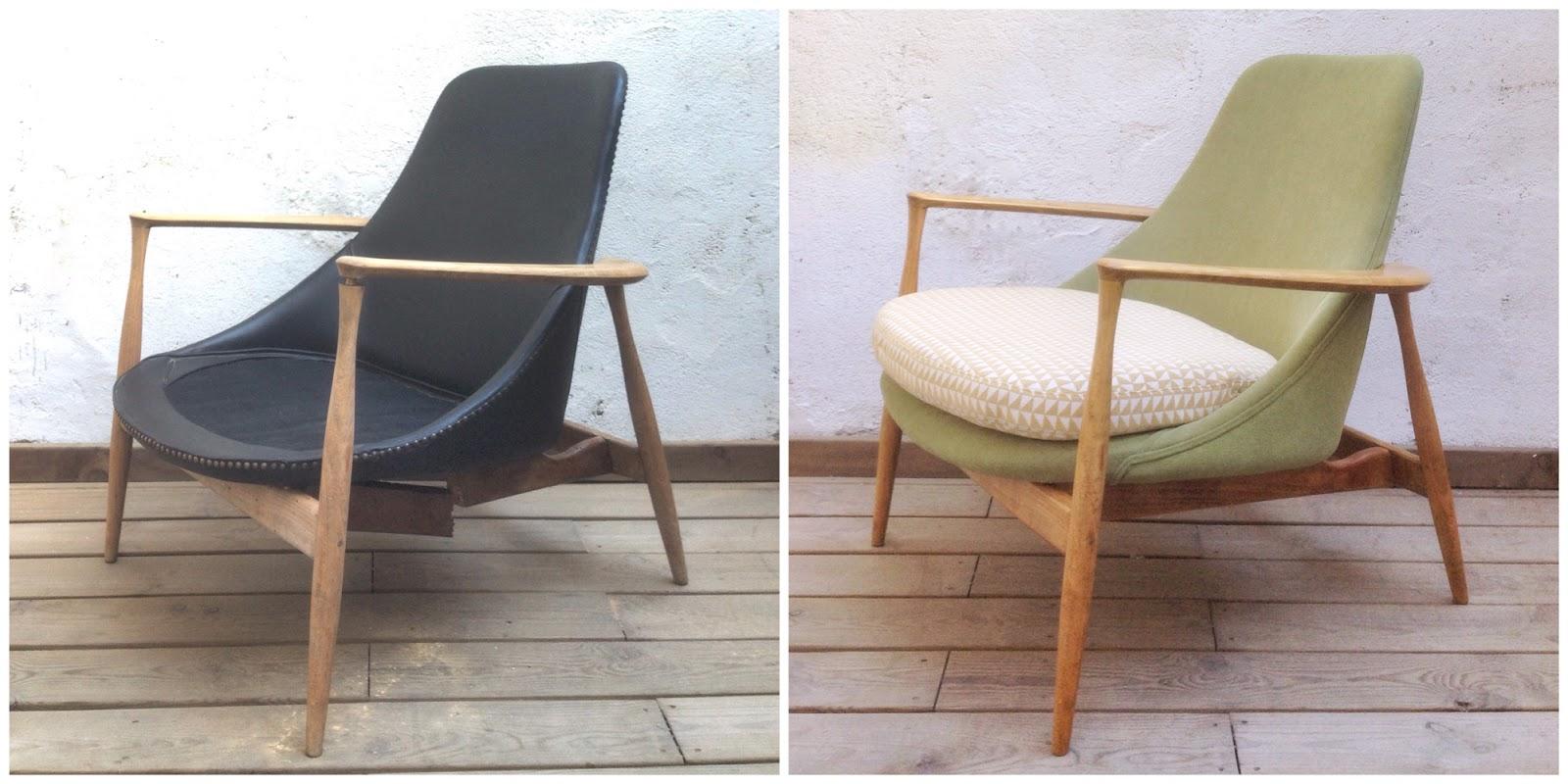 Antes y después - un sillón retapizado - Studio Alis