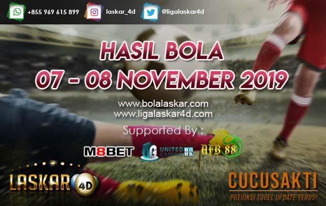 HASIL BOLA JITU TANGGAL 07 – 08 NOVEMBER 2019