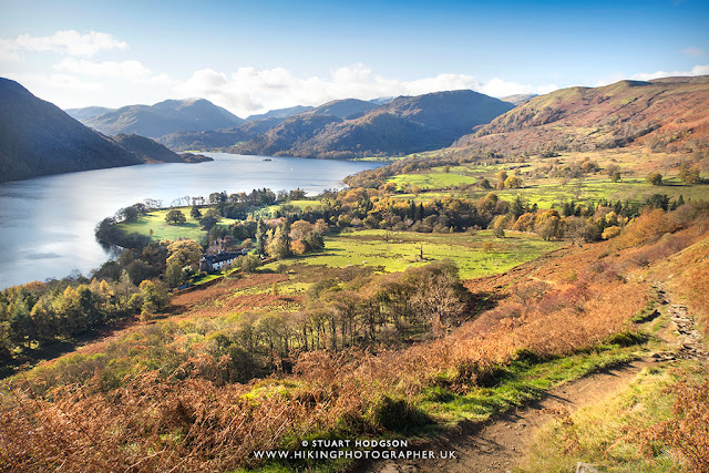 Ullswater walks Gowbarrow fell Aira Force best lake District views lakes england