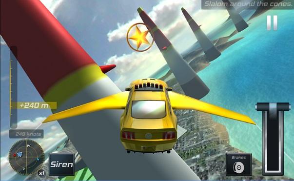 لعبة السيارات الطائرة