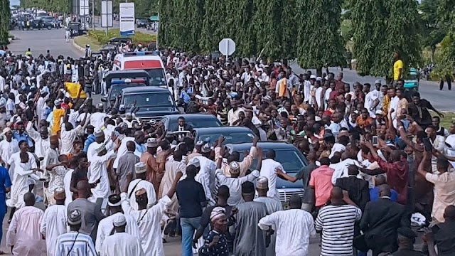 Buhari supporters in their numbers