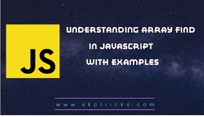 Understanding Array Find() In Javascript