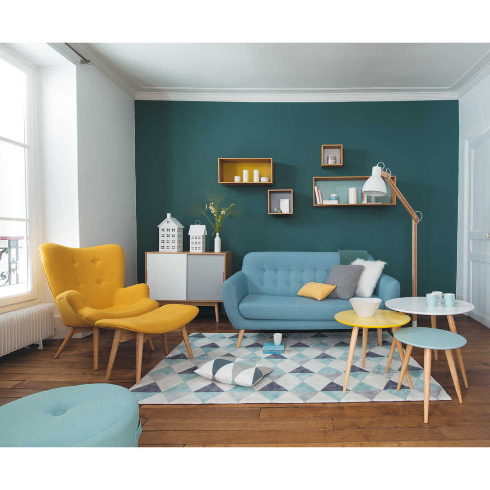 salon vintage scandinave maison du monde