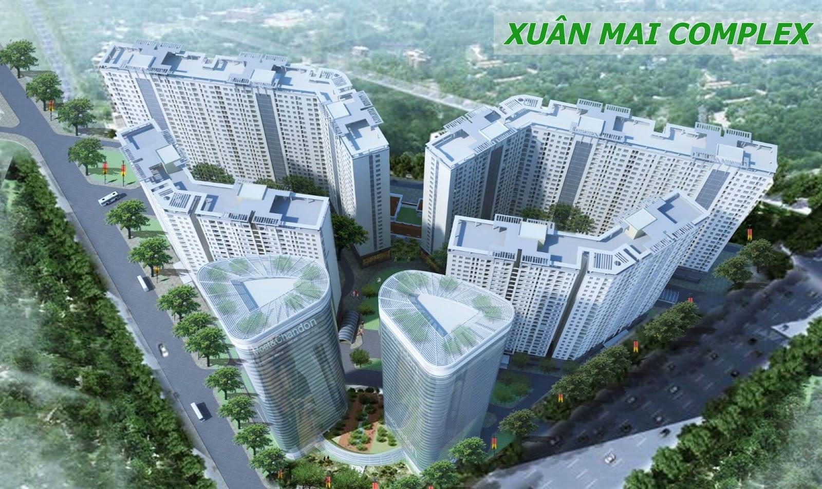 Phối cảnh dự án Xuân Mai Complex