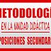 METODOLOGÍA UNIDAD DIDÁCTICA OPOSICIONES SECUNDARIA LOMCE
