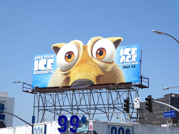 Ice Age Collision Course Scrat billboard