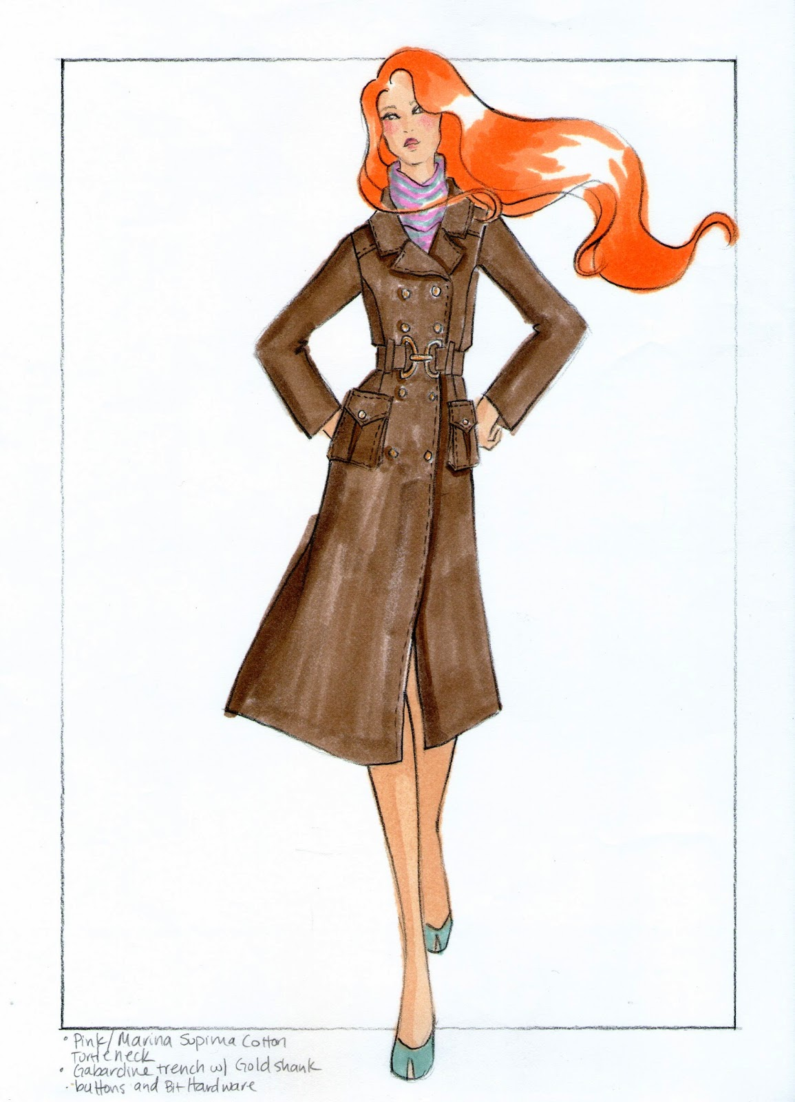 The Spinsterhood Diaries Sample Fashion Project Renderings