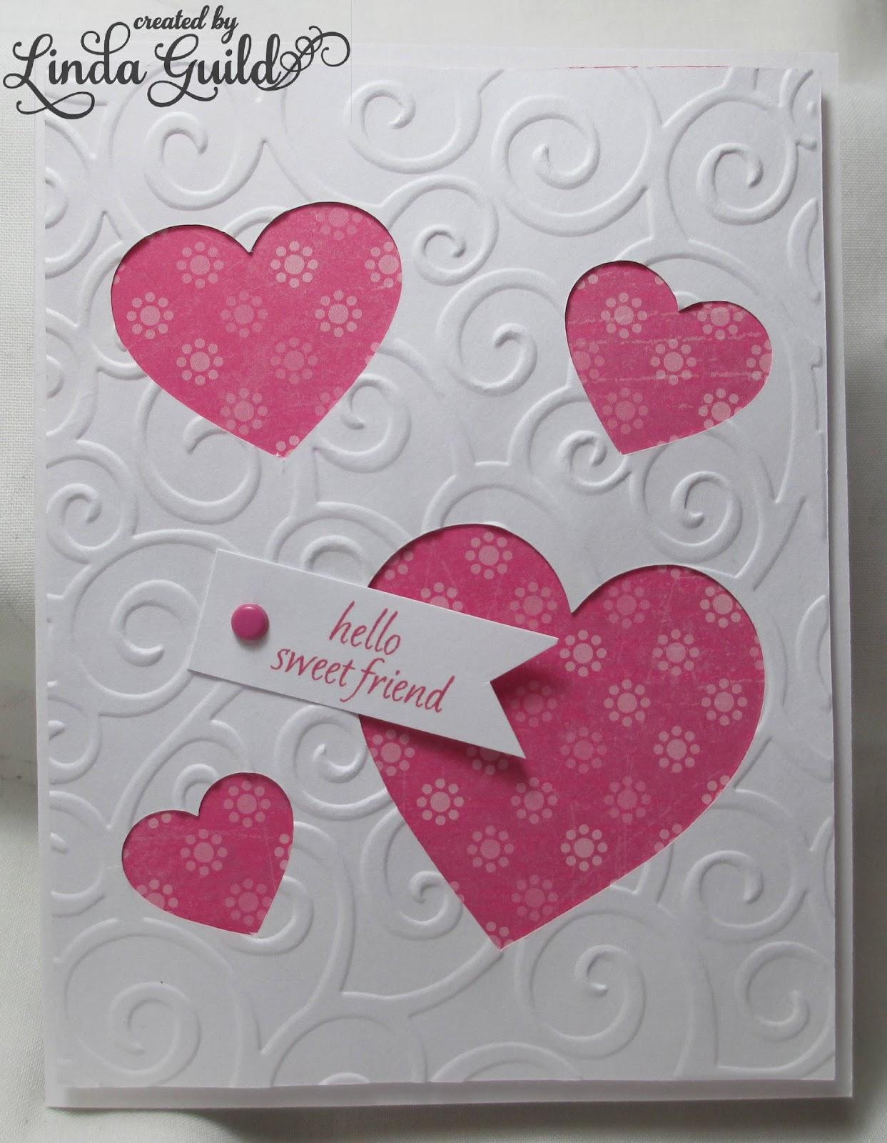 nothin' fancy sweet friend valentine card  30 minute card