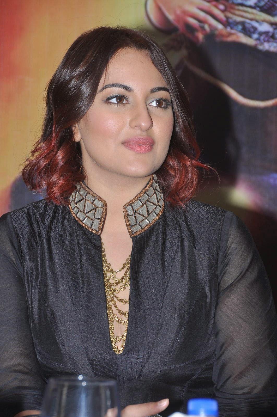 Sonakshi Sinha Latest Photos In Black Dress At Tevar Movie -2920