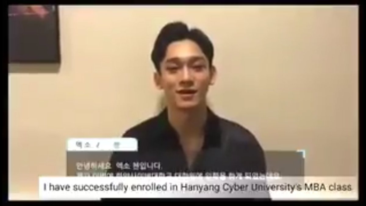 [ENGSUB] 170227 Chen has been admitted to Hanyang Cyber University!