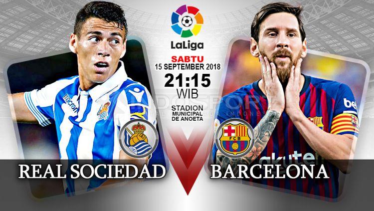 Cuplikan Skor Real Sociedad vs Barcelona: 1-2