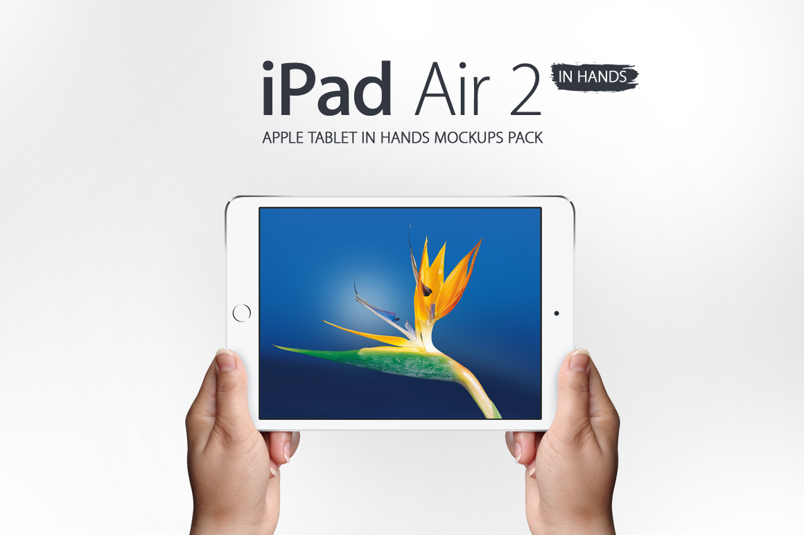 iPad Air 2 in Hands Mockups