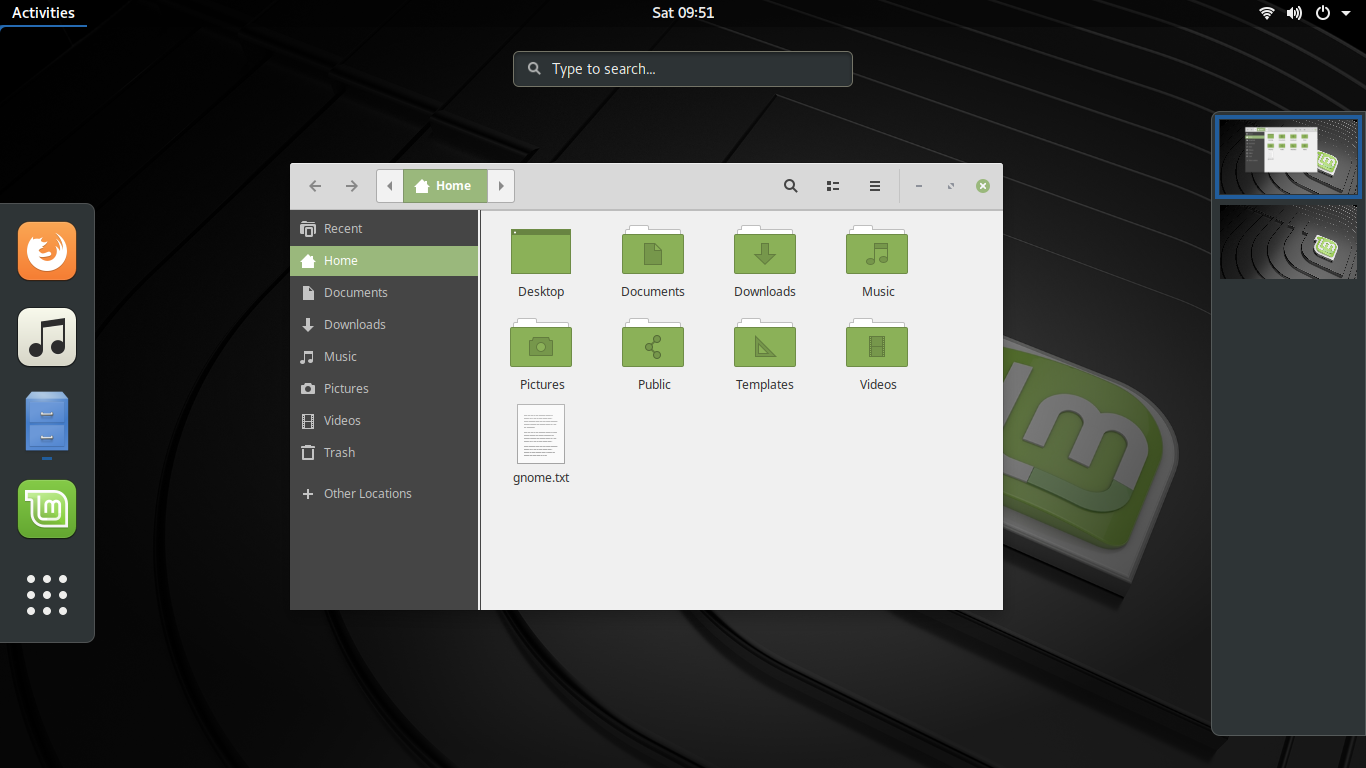 KDE and GNOME on Mint 19 1