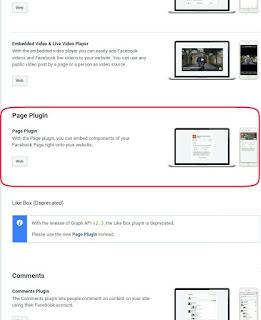Add Facebook page plugin in blogger