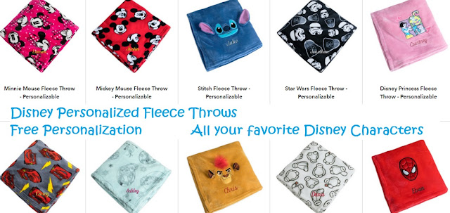 Disney Personalized Fleece Throws