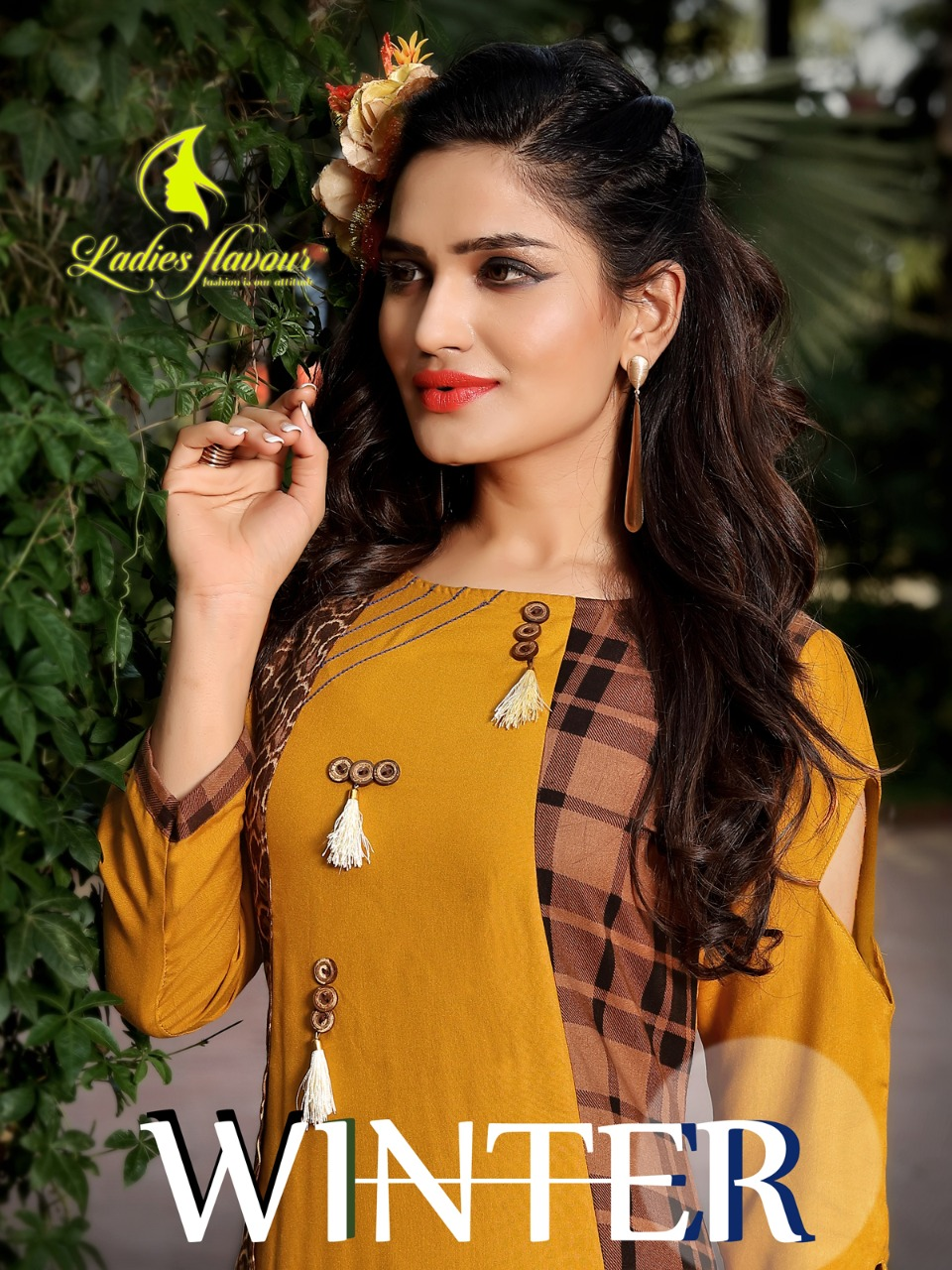 WINTER By Ladies Flavour Heavy Rayon 14 kg with Manual Hand work Kurtis