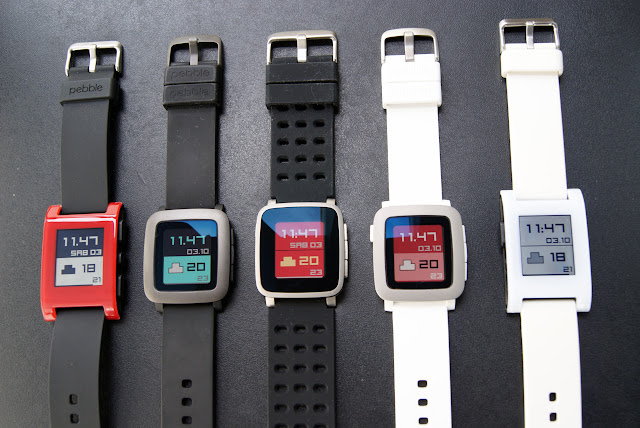 Pebble clásico, Pebble Time, Pebble Time Steel, y capicúa