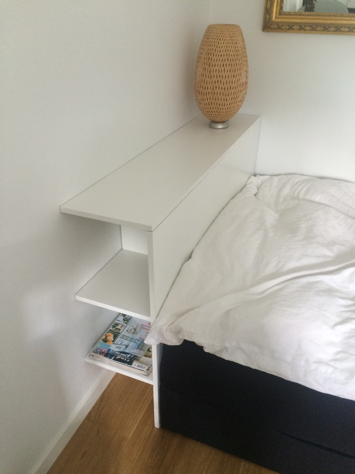 sengegavl med opbevaring Book en handywoman: Kombineret sengebord og  gavl med opbevaring sengegavl med opbevaring