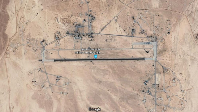 Image Attribute: Tiyas (T-4) Airbase, Syria (GPS Coordinates: 34.5276583, 37.6277322) / Source: Google Maps