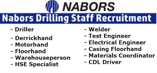Hiring on the Spot, Nabors Immediately Needs Staff Apply now.