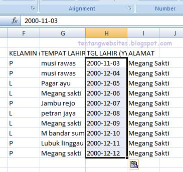 Merubah Format Tanggal (Date) Ke Text