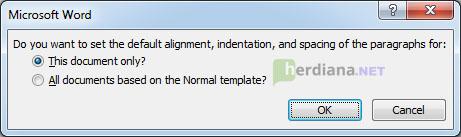 Spacing-default-confirmation