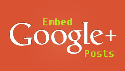 Embed Google+ Post