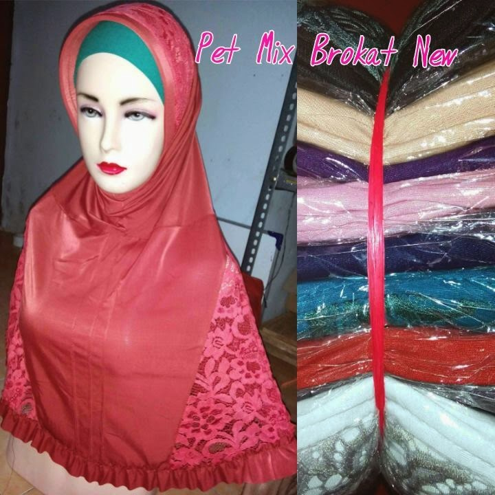 Hijab Instan Brokat  Tutorial Hijab Terbaru