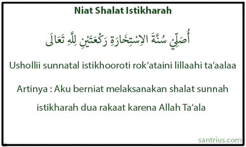 Niat Shalat Istikharah