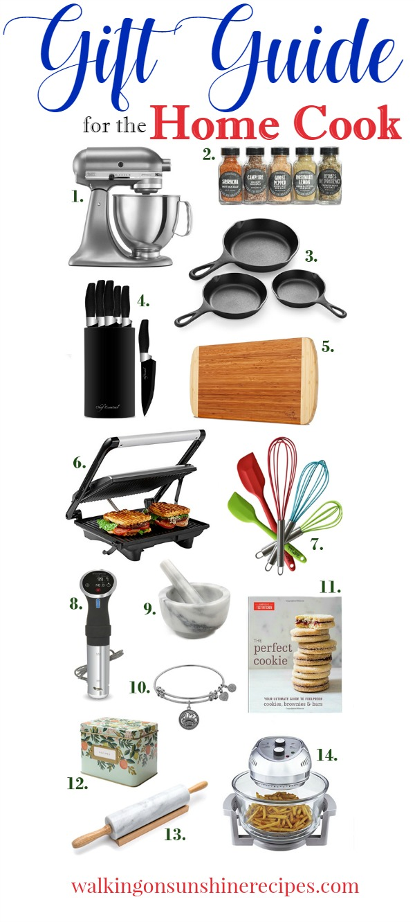 Gifts for the Home Cook or Chef in your life | Walking on Sunshine Recipes | Holiday Gift Guide