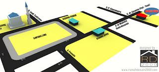gambar peta lokasi ruko minimalis 2 lantai