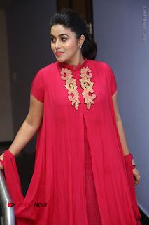 Actress Poorna Latest Stills in Red Dress at Rakshasi First Look Launch  0205.JPG