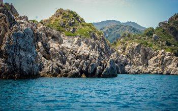Wallpaper: Sea, rocks, landscape, nature