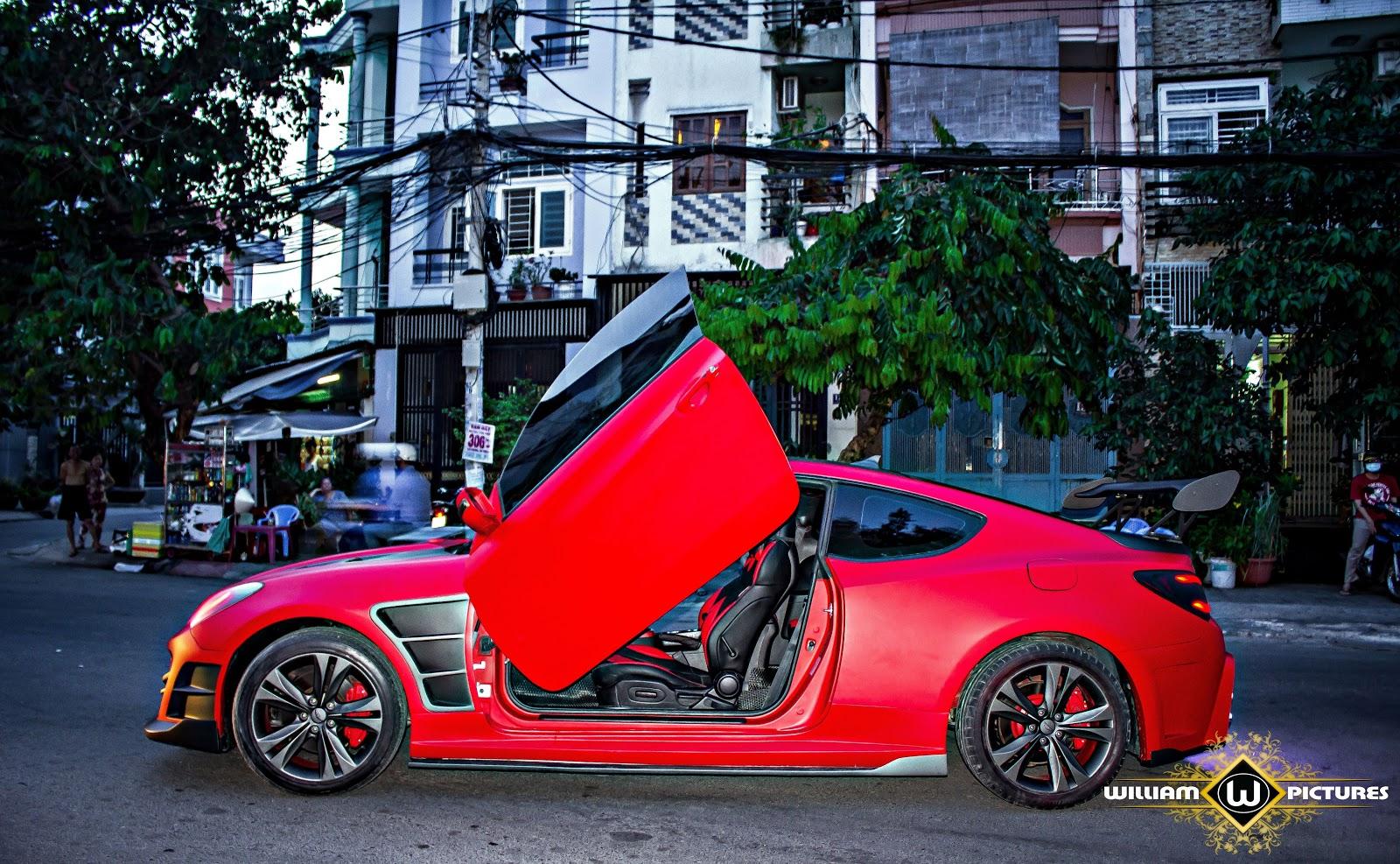 Bỏng mắt với bản độ Genesis Coupe hầm hố của đại gia trẻ Đắk Lắk